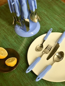 Cutlery Set With Round Stand- 25 Pieces - Elegante
