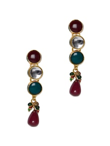 Stone Work Earrings - Aradhyaa Jewel Arts