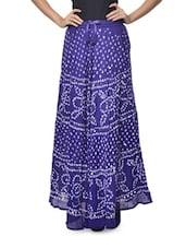 Ethnic Navy Jaipuri Bandhej Long Skirt - Ruhaan's