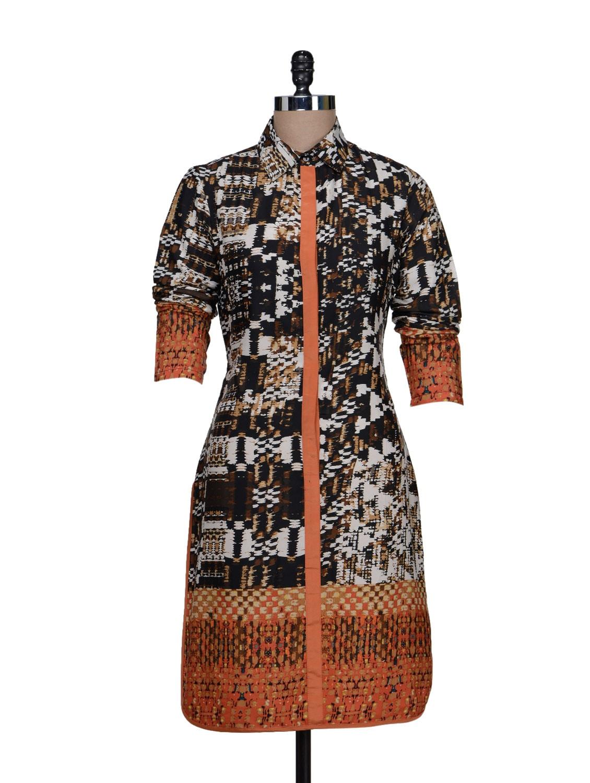 Printed Shirt Dress - HERMOSEAR