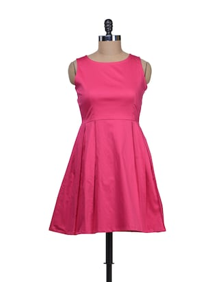 Candy Pink Frock Style Dress