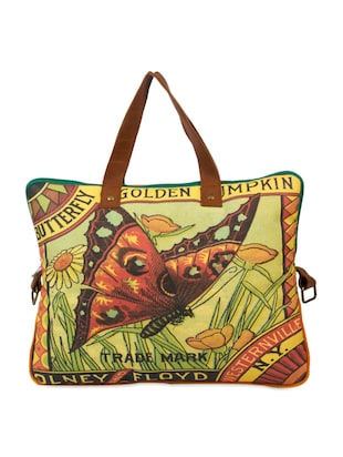 Multicoloured Butterfly Print Laptop Bag