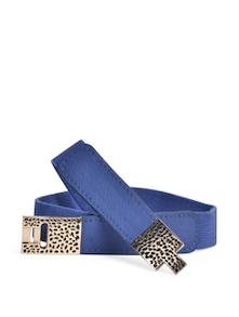 Blue & Gold Belt With Enameled Clasp - YOUSHINE