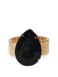 Elegant Black & Gold Cocktail Ring - YOUSHINE