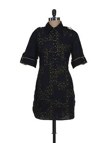 Elegant Black Printed Kurti - Meira