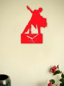 Red Salsa Dance Wall Clock - Zeeshaan