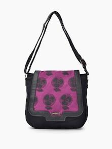 Pink Fan Print Handbag - Haute Potli