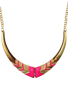 Miss Pink Diva & Golden Tresses Necklace - DIOVANNI