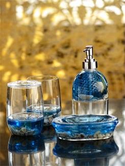 Blue Shells Bathroom Set (4 Pc) - Freelance