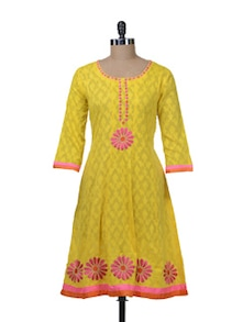 Sunshine Yellow Embroidered Kurta - Paislei