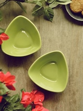 Green Snacks Bowl - Set Of 2 - Habitation