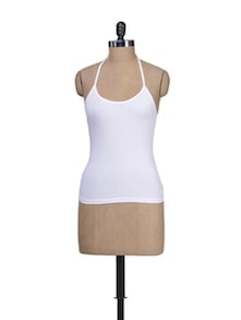 Cool White Halter Neck Camisole - Lady Lyka
