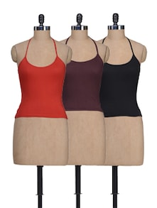 Halter Neck Camisoles - Set Of 3 - Lady Lyka