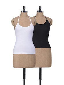 Halter Neck Camisoles - Pack Of 2 - Lady Lyka