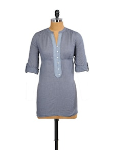 Blue And Grey Chic Top - Mishka