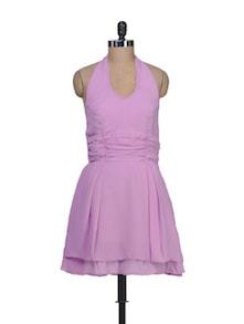 Purple Halter Neck Dress - Guster Ve..