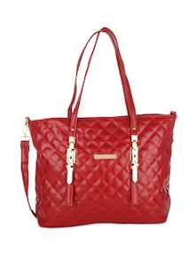Cherry Red Quilted Handbag - Lino Perros