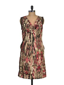 Printed Glory Cowl Neck Dress - I AM FOR YOU
