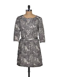 Grey Goose Printed Dress - I AM FOR YOU