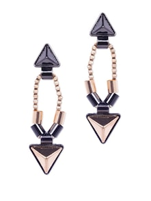 Chic Grey & Gold Earrings - CIRCUZZ