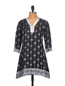 Gorgeous Grey And Black Kurta - Glam And Luxe
