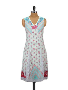Floral Rush Cotton Kurta - Glam And Luxe
