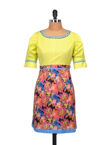 Floral Flamboyance Multicolour Kurta - Glam And Luxe