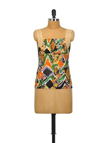Psychedelic Print Punk Top - Glam And Luxe