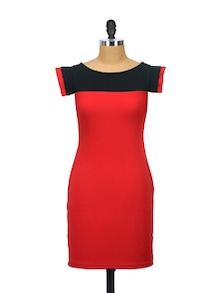 Black And Red Bold Dress - Glam And Luxe