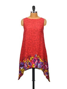 Fit And Flair Red Kurta - Glam And Luxe