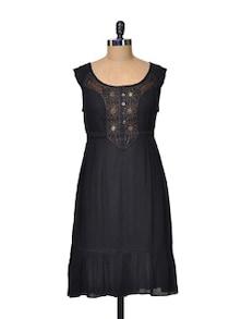 Beaded Black Dress - La Zoire