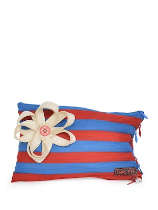 Striped Blue And Red Pouch