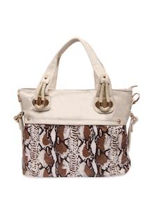 Striking White Animal Print Handbag - Lalana