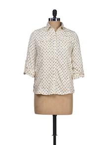 Monochrome Mayhem Polyester Top - Silk Weavers