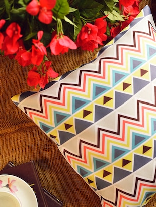 Multicolored Geometric Cushion Cover