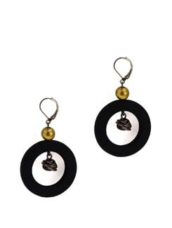 Classic Black And Metal Earrings - Eesha Zaveri; Jewellery By Design