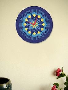 Designer Art Blue Wall Clock - BLACKSMITH