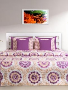 Artful Purple Double Comforter - HOUSE THIS