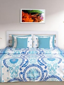 Summery Blue & White Double Comforter - HOUSE THIS