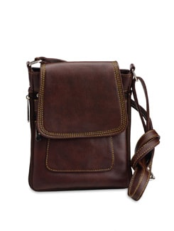 Compact Faux Leather Sling Bag - ALESSIA