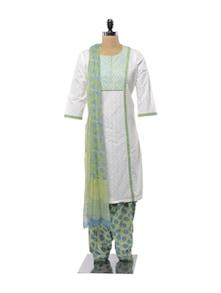 Blue And Green Salwar Suit - KILOL