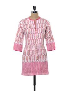 Pink Cotton Kurti - KILOL