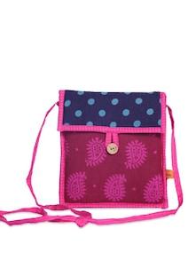 Elegant Blue & Pink Sling Bag - Desiweaves