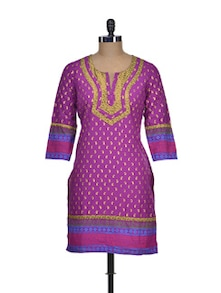 Colourful Cotton Kurti - NEE
