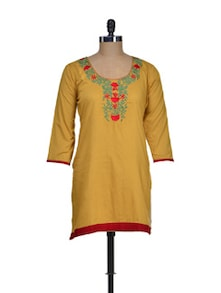 Floral Embroidered Kurti - NEE