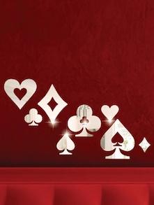 Clubs And Spades 3D Mirror Sticker - Zeeshaan