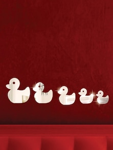 Duck Family 3D Mirror Sticker - Zeeshaan