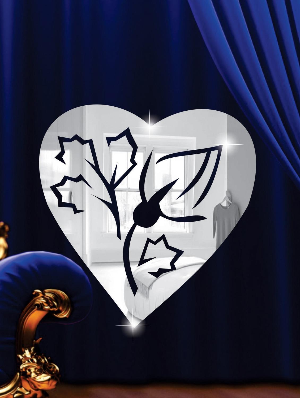 Filigree Heart 3D Mirror Sticker - Zeeshaan