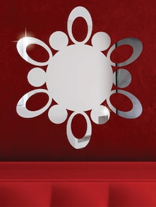 Atomic Circle 3D Mirror Sticker - Zeeshaan
