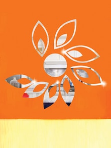 Delicate Petals 3D Mirror Sticker - Zeeshaan